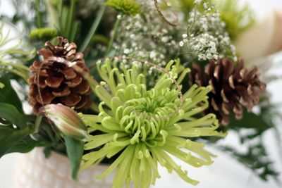 green christmas bouquet
