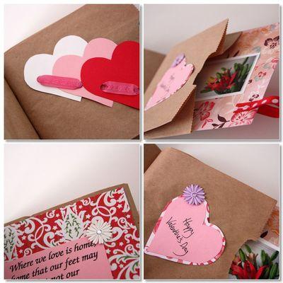 Paper bag valentines