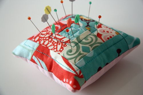 Log cabin pincushion