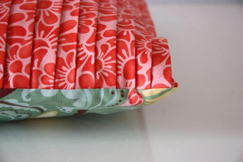 Fandango pleated pillow cover